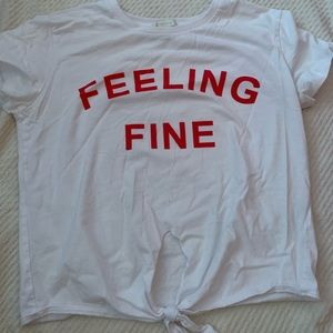 "graphic ""feelin fine"" t-shirt"